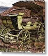 Yellowstone Park Stage Coach With Horses Pa 01 Metal Print