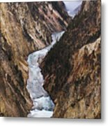 Yellowstone River Falls Metal Print