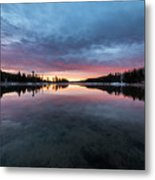 Yellowstone River Sunrise Colors Metal Print