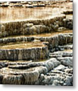 Yellowstone Rock Formation Metal Print