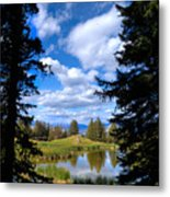 Yellowstone Sky Metal Print