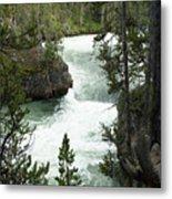 Yellowstone Waterfall Metal Print