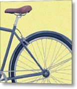 Yelow Bike Metal Print