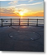 Yes, The Sun Rises To The East Red Rock Park Lynn Shore Drive Metal Print
