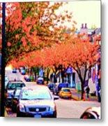 Yew Street Autumn Metal Print