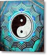 Yin Yang -  The Healing Of The Blue Chakra Metal Print