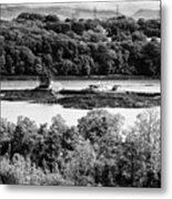 Ynys Gored Goch Island In The Menai Strait North Wales Uk Metal Print