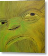 Yoda Selfie Metal Print