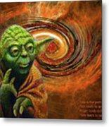 Yoda-no Fear Metal Print