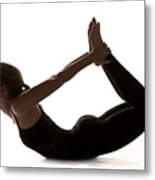 Yoga Bow Pose Metal Print