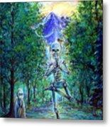 Yoga Tree Metal Print