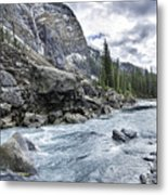 Yoho River At Takakkaw Falls Metal Print