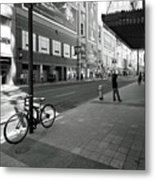 Yonge And Queen In Toronto Metal Print