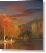 Yorba Linda Lake By Anaheim Hills Metal Print