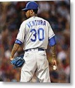 Kansas City Royals, Yordano Ace Ventura,  Painting, Forever Blue Metal Print