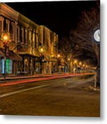 York South Carolina Downtown During Christmas Metal Print