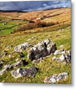 Yorkshire Dales Limestone Countryside Metal Print