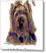 Yorkshire Terrier Pop Art Metal Print