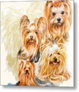 Yorkshire Terrier W/ghost Metal Print