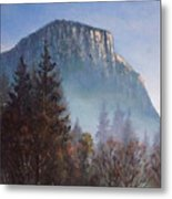 Yosemite Dawn Detail Metal Print