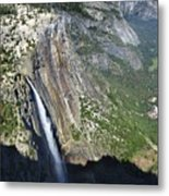 Yosemite Falls And Valley From Eagle Tower Detail - Yosemite Metal Print