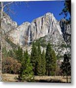 Yosemite Falls Through The Trees Metal Print