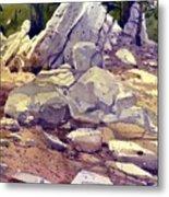 Yosemite Granite Metal Print
