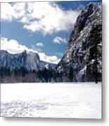 Yosemite Meadow In Winter Metal Print
