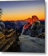 Yosemite National Park Glacier Point Half Dome Sunset Metal Print