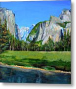 Yosemite National Park In The Spring Metal Print