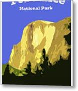 Yosemite Poster Metal Print