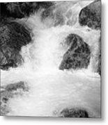 Yosemite Raging River Stream Metal Print
