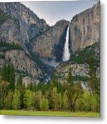 Yosemite Upper And Lower Falls Metal Print