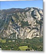 Yosemite Valley Panorama From Union And Glacier Points Metal Print