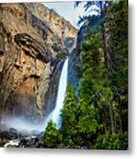 Yosemite Waterfall Metal Print