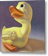Yoshi's Ducky Debut Metal Print