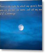 You Are My Moon Metal Print