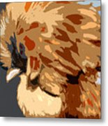 You Chicken Two Metal Print