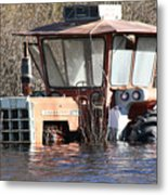 You Go Get The Tractor  Metal Print