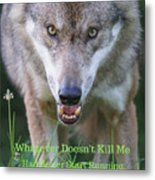 You Whatever Doesn't Kill Me... Metal Print