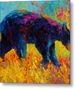 Young And Restless - Black Bear Metal Print