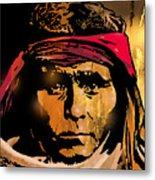 Young Apache Brave Metal Print