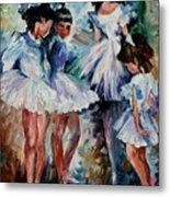 Young Ballerinas Metal Print