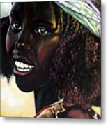 Young Black African Girl Metal Print