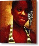 Young Black Female Teen 1 Metal Print