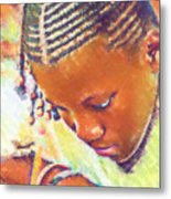 Young Black Female Teen 2 Metal Print