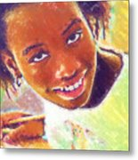 Young Black Female Teen 5 Metal Print