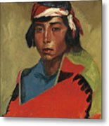 Young Buck Of The Tesuque Pueblo Metal Print