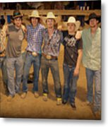 Young Bull Riders Portrait Metal Print