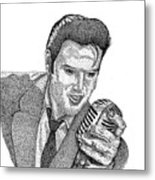 Young Elvis Metal Print